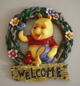 Pooh Wall Hanging - Welcome