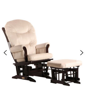 Dutailier Glider Rocking Chair with ottoman, nursery baby room
