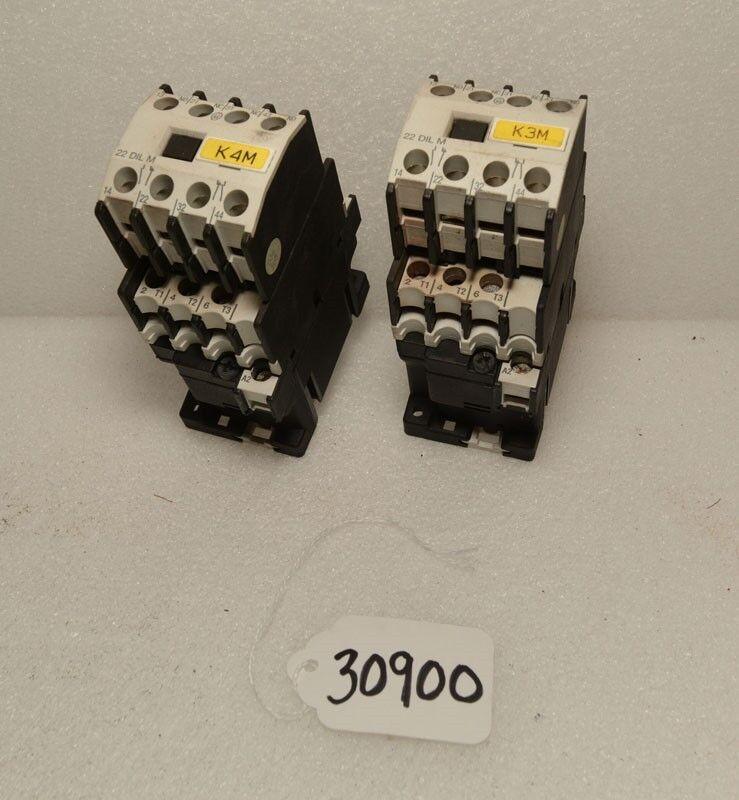 2 Klockner Moeller contactors DIL00 M (Inv. 30900)