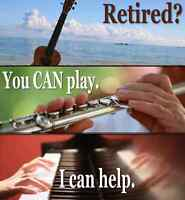 Have you retired & decided it's time to take music lessons?