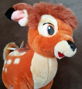 "DISNEY BAMBI 16"" PLUSH DOLL with tags - NEW / PELOUCHE"