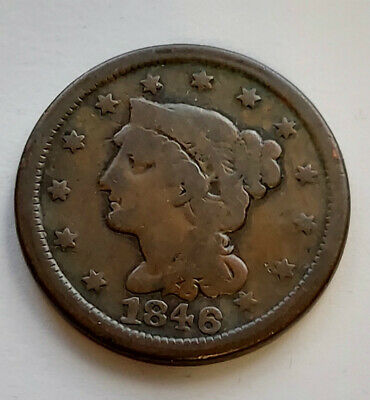 1846 Philadelphia Mint Braided Hair Large Cent