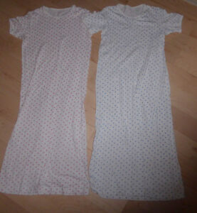 2 cotton night gown, size 7 - 10 years $ 5 for both