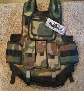New Counterstrike Tactical Paintball Vest Woodland Camo