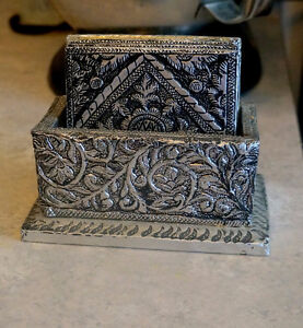 Five Brand New Beautiful Coasters with Holder