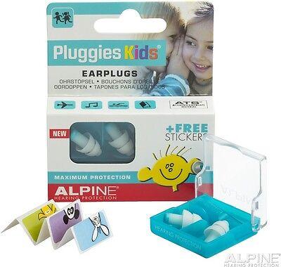 Alpine Pluggies Kids Gehörschutz für Kinder, Box inkl. Stickers