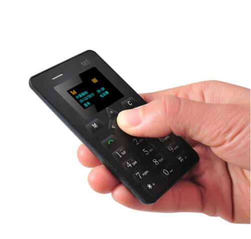 Mini 4.5mm Ultra Thin Pocket Phone AIEK M5 Card Mobile Phone Alarm Clock NOUVE