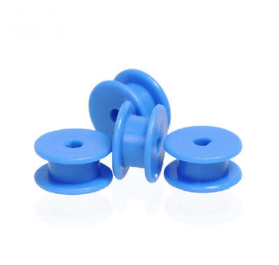 5pcs Plastic Sheave Belt Pulleys 12mm Blue D 3mm Hole Timing Pulley For Diy