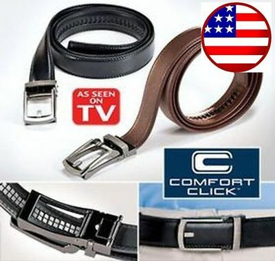 COMFORT CLICK Leather Belt Automatic Adjustable Mens Gift US Seller HOT 2 color 2 Adjustable Belt