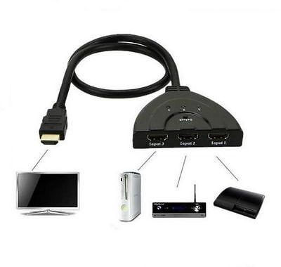 3 Port HDMI 1080 P Multi Schalter Switcher Splitter Kabel HUB Box LCD HDTV PS3 Hdtv Ps3 Lcd