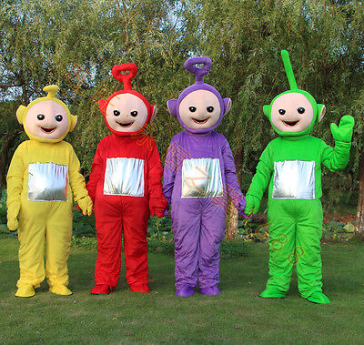 2018 New Teletubby Teletubbies Cute Cartoon Mascot Costume Adult Suit-Gift (Teletubbies Suit)