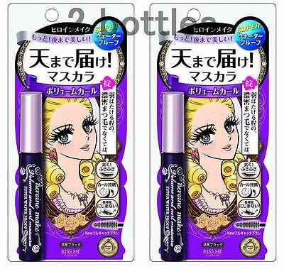 Lot2! New, Heroine Makeup Mascara, Volume and Curl Super WP 6g x 2bottles, Black