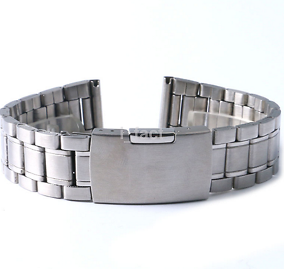 Exquisite Watch Band Strap Clasp Stainless Steel Silver Buckle CA