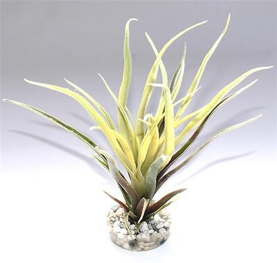 Sydeco Plastik Pflanzen Deko für Aquarien/Terrarien - Tillandsia Fan 22cm