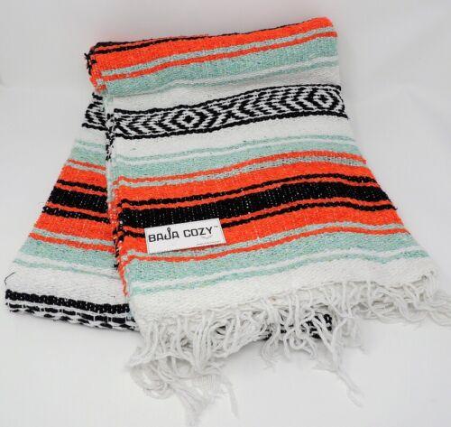 Baja Cozy™Wingman ™ Mexican Blanket 7 Slot Orange Mint