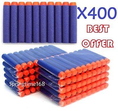 400 X Blue Kids Toys Soft Nerf Gun Darts Bullet Blaster N-Strike Elite Series