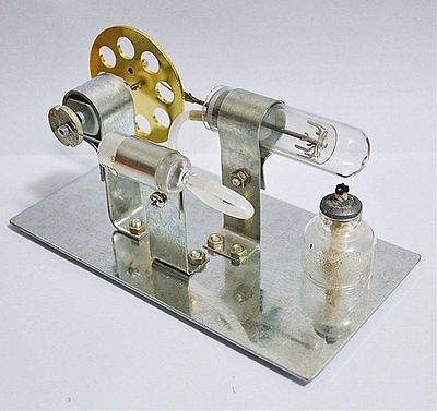 Mini Hot Air Stirling Engine Motor Model Educational Toy Kits Christmas Gift
