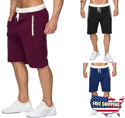 Mens Casual Basketball Mesh Shorts Sport Pants Summer Beach Gym Fitness Workout
