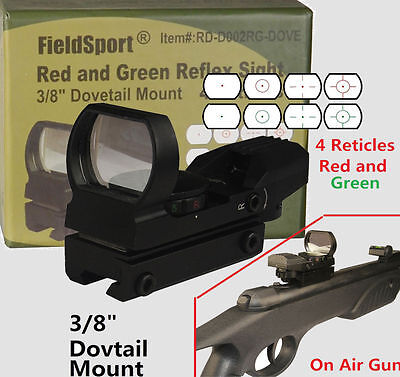 Field Sport Red And Green Micro Dot Reflex Sight 3 8 Dovetail For Air Soft