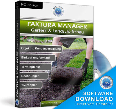 Rechnungsprogramm für Gartenbau Firmen, Gärtner u. Landschaftsbau Faktura