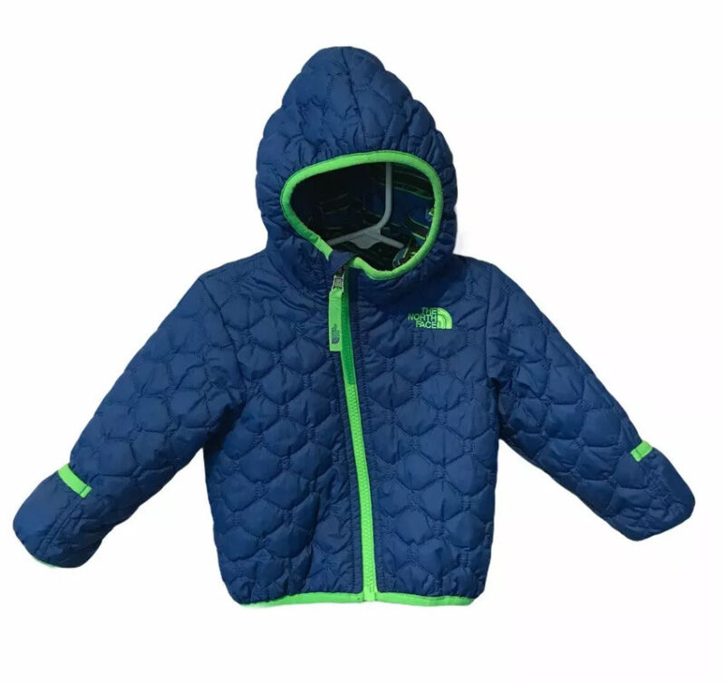 North Face quilted reversible coat 6-12 months