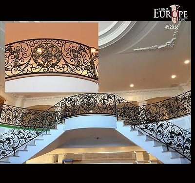 THE BEST HAND MADE WROUGHT IRON VICTORIAN STYLE ESTATE STAIRCASE RAILING -