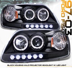 1999 2003 ford f150 expedition suv halo led projector headlight headlights set ebay. Black Bedroom Furniture Sets. Home Design Ideas
