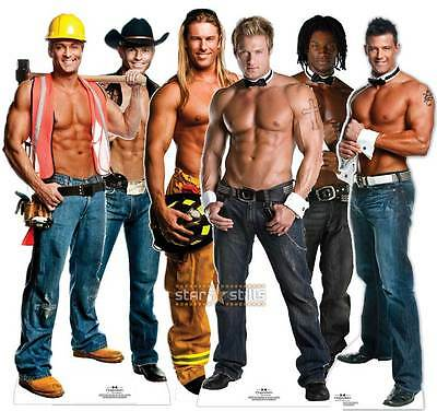 CHIPPENDALES LIFESIZE CARDBOARD CUTOUT STANDEE STANDUP cutouts male Strippers