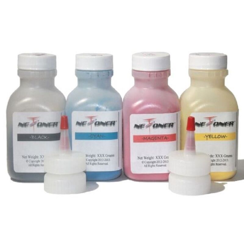 4 Color Toner Refill for Epson AcuLaser CX11N CX11NF C1100 Series + 4 Chips