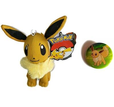 "7"" Eevee Plush toy Pokemon plush toy - New with Official Tags. Comes with a Pin!"