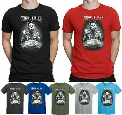 Cereal Killer Michael Myers T-shirt Halloween Costume Ghost Top Mens Womens Tee