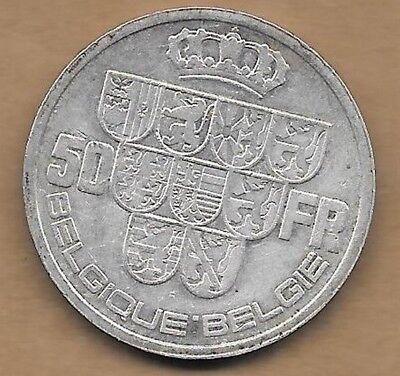 50 Francs argent Léopold III 1939 FR-FL Pos. A