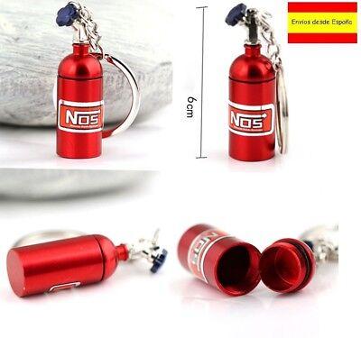 Llavero Coche Botella Bombona NOS Rojo metalizado Key chain NUEVO