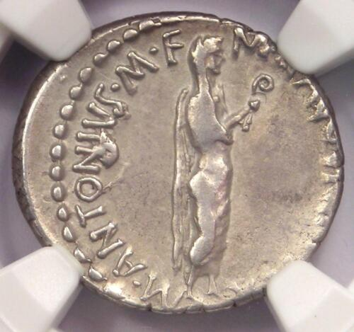 Roman Marc Antony AR Denarius Coin 38 BC - Certified NGC Choice VF Condition!