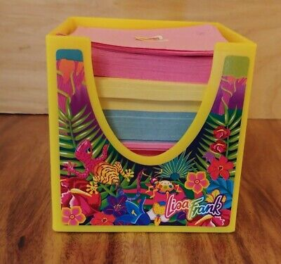 Vintage Lisa Frank Stationary Cube 3 1/8x 1/8in With Original Paper