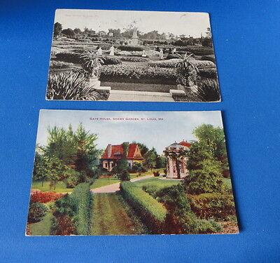 2  Postcard S     Mo   Shaws Garden  St  Louis  Etc Etc  Early 1900S
