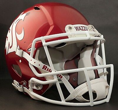 Washington Cougars Football (WASHINGTON STATE COUGARS Football Helmet FRONT TEAM NAMEPLATE Decal/Sticker)