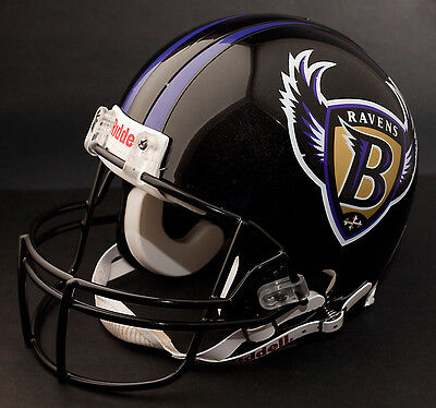Baltimore Ravens Replica Football Helmet (BALTIMORE RAVENS 1996-1998 Riddell NFL Full Size REPLICA Football Helmet )