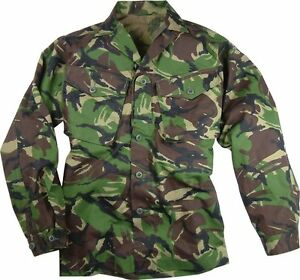 GENUINE-BRITISH-ARMY-DPM-95-LIGHTWEIGHT-COMBAT-SHIRT-GRADE-1-USED