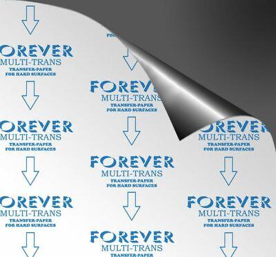 50 Papel transfer para impresoras láser A4 Forever multitrans superficies rigida
