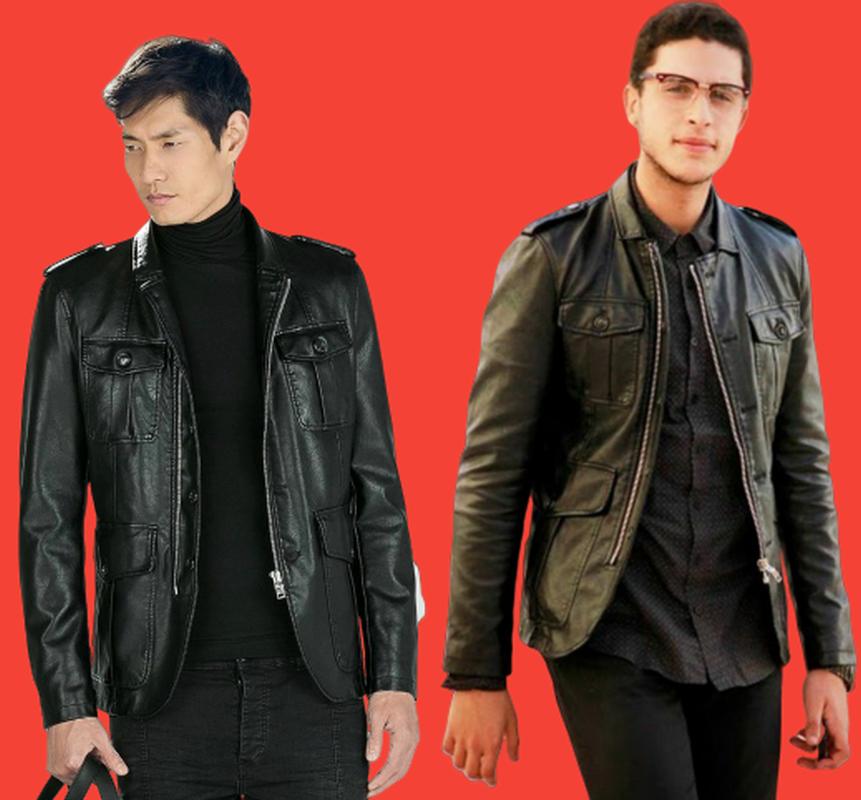 ZARA Black Faux Leather Jacket Blazer Man BNWT Authentic RRP £89.99 0706318