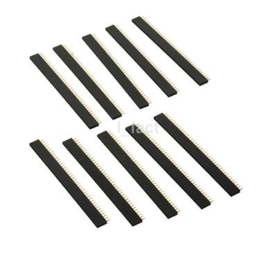 Hot 10 pcs  2.54mm Pin Header 1x40 40pin Female Sockets Single Row Strip US