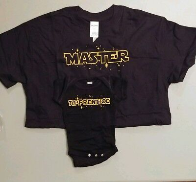 New Father & Newborn Star Wars Master & Apprentice T Shirt & Onesy
