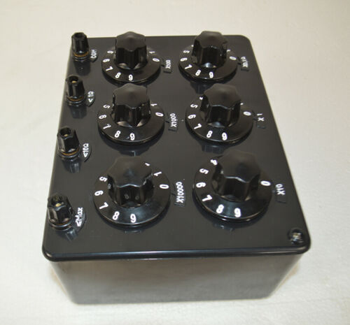 Precision Variable Decade Resistor Resistance Box 0.1~99.9999 kΩ Inspect Tool