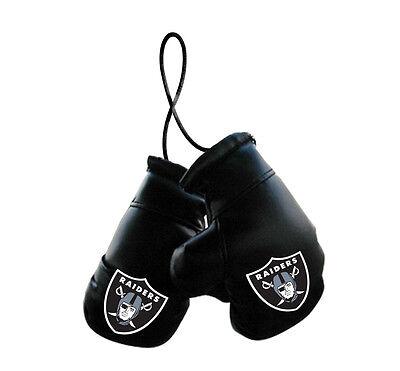 Oakland Raiders NFL Mini Boxing Gloves Rearview Mirror Auto Car Truck  (Raiders Car)