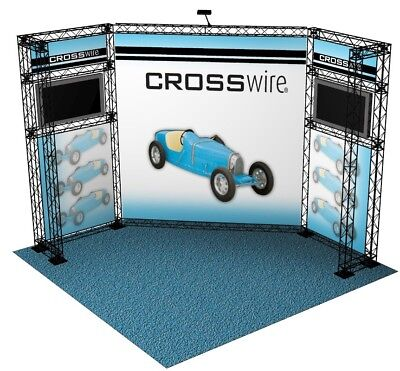 Crosswire 10x10 Portable Trade Show Display Composite Plastic Collapsible Truss