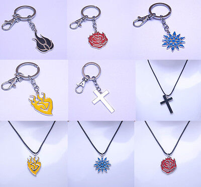 Rwby Ruby Rose Yang Xiao Long Necklace Pendant Keychain Keyring 6Style