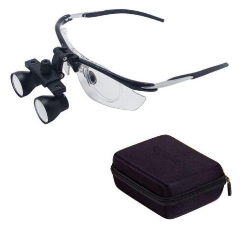 Dental Medical Binocular Loupes 2.5X-3.5X Variable Magnifier Aluminum Frame