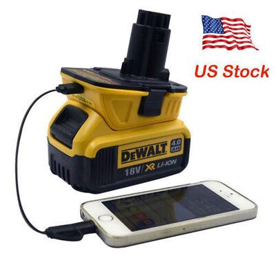 (USB Converter) DCA1820 for Dewalt 10.8V 12V 18V 20V to 18 Volt Battery Adapter