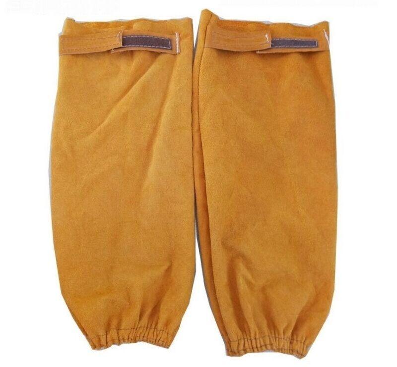 Split Leather Welding Soldering Arm Sleeves Protective Splatter Heat Protection